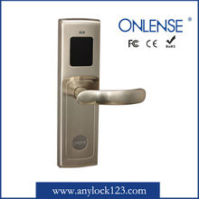 Automative deadbolt hotel lock with rfid card system