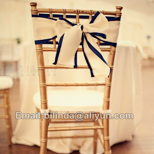 High quality new design satin chiavari chair cover chair sash for weddings decoration