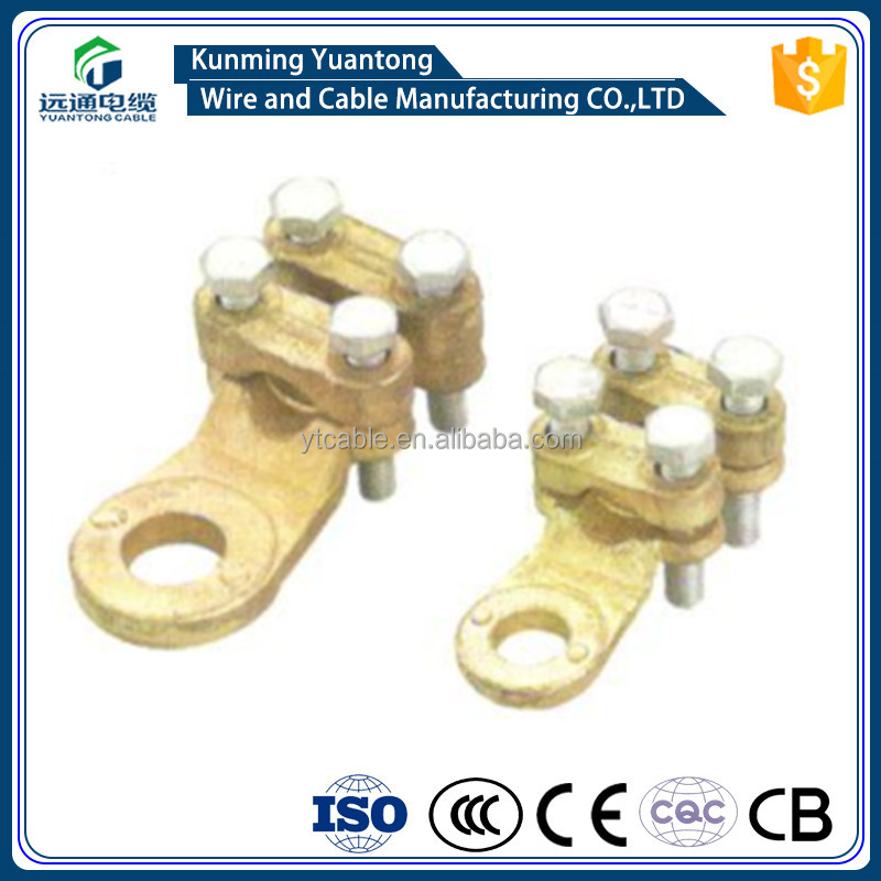 Brass wire connector with bolts / Copper wire Clamp /wintersweet wire connector