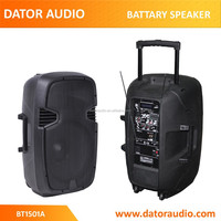 15 inch Portable Wireless Rechargeable PA System