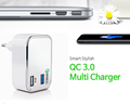 QC 3.0 mobile phone usb wall chargeur universal surge protector charger adapter with KC CE Qualcomm