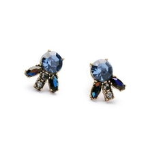 fashion jewelry wholesale new alloy inlaid blue gemstone studs earrings