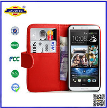 Book Style Leather Wallet Case for HTC Desire 816
