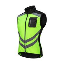 WOSAWE Reflective Windproof Cycling <strong>Sportswear</strong> For Men Knitted Cycle Costumes Windcoat Breathable Bike Jacket Sleeveless Vest
