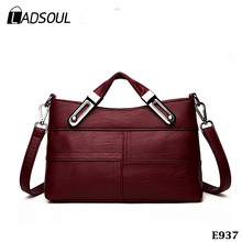2017 New Middle-aged Mummy Soft Leather Chain Women Messenger Bag