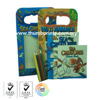 2 In 1 children books with stationery