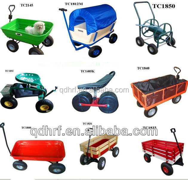 Utility garden cart cargo dump wagon wheelbarrow heavy for Gardening tools jakarta