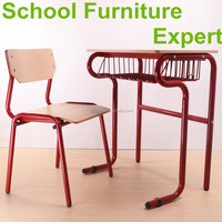 beautiful strong plywood and MDF single school desk and chair