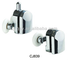 ABS+Chromed sliding door rollers wheel/shower round glass door rollers/double wheel