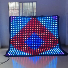 2018 Flexible LED Curtain Display/soft video background led curtain wall