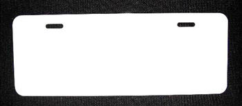"Wholesale 4.5"" x 12"" White Half Plate Dye Sublimation License Plate Blank Tag"