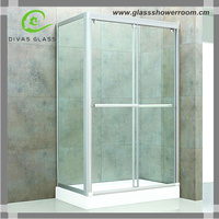 Framed glass sliding bath shower screen