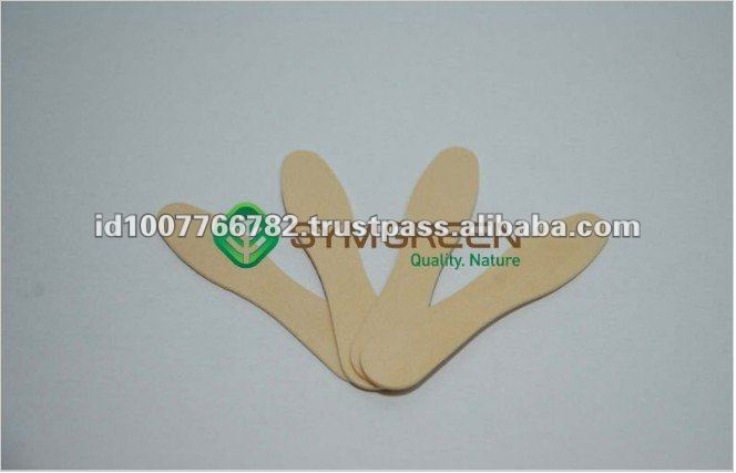 75mm Well Shaped Pine Wooden Ice Cream Spoon