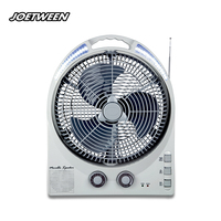 Energy - efficient 2 speed battery operated fan automatic light up 12 inch table cool fan