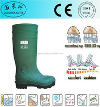 Puncture-Resistant Green Cheap Price PVC Safety Boots