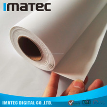 Wholesale 260gsm 300D x 600D Waterbased Matte Poly Canvas Roll , Textured Canvas Roll For Large Format Printing