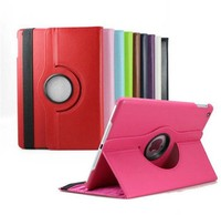 2015 New fashionable flip leather case for ipad, 360 degree rotation leather case for ipad 2/3/4 with stand