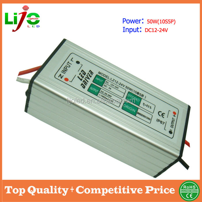 waterproof 50w led driver with 1500ma constant current for low voltage outdoor led light solar light driver free sample