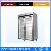 2 doors commercial upright display chiller