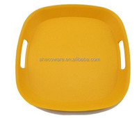 Hot sales Bamboo fiber Square Serving Tray