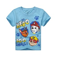 Factory price cartoon baby boy t shirt for kids summer style t-shirt children clothing