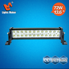 Cheap 72w led light bar off road 4x4 truck 4wd boat led light bar