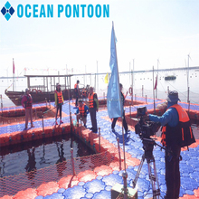 Good quality floating dock plastic pontoons with certificate