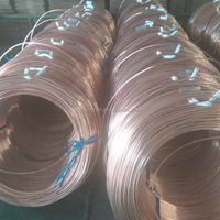 Copper coated steel tube for air condition and refrigerator application