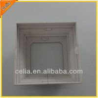 77mm sq white plastic base plate cover