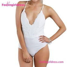 White Hot Hater Straps One Piece Sexy Young Girls Bathing Suit