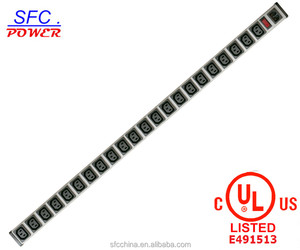 IEC 60320 C13 C14 PDU POWER STRIP Smart 23 Outlets Power Bar For Network Cabinet , Rack mounted Outlets
