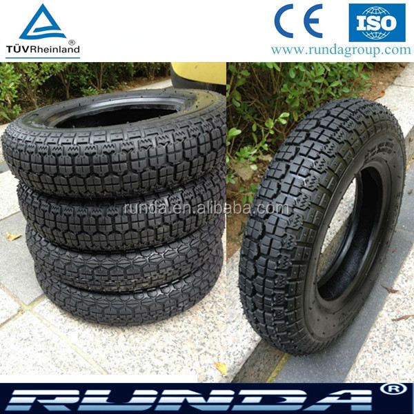 natural rubber 3.50-8 deep pattern Scooter and wheelbarrow tire and tube