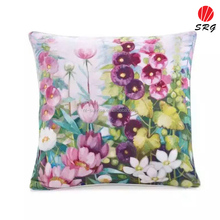 flower digital printed cushion cover