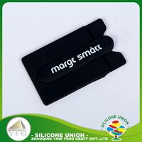 Nice appearance printed logo slap stand silicone slim cell phone case card holder