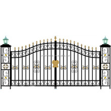 R0137 New style house decoration design iron main gate design