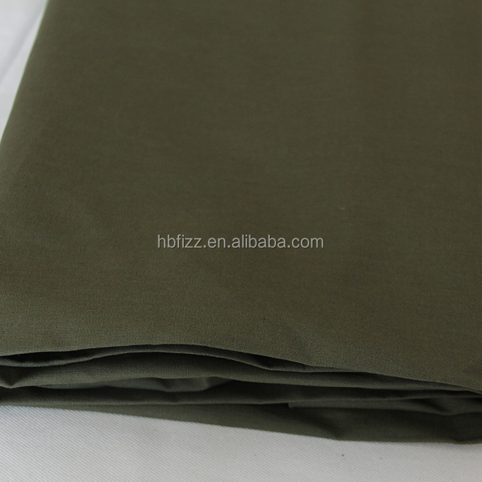 Factory product all cotton fabric dark green fabric