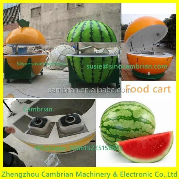 Individual business used mobile food cart for slush machine frozen yogurt machine fast food selling