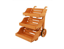3tier wooden display cart