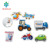 New Design Baby Bath Toys Safety Eco-friendly EVA Foam Vehicle Small Puzzles