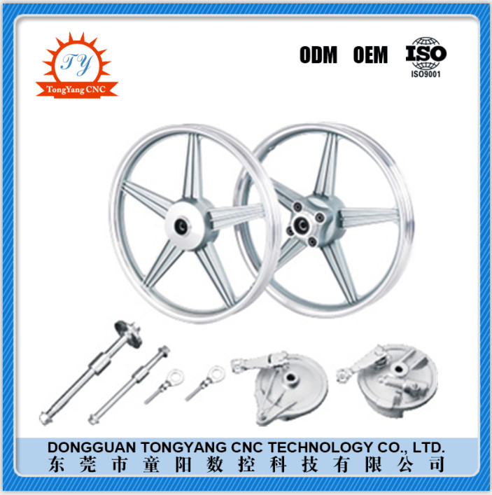 OEM CNC machining aluminum Model Motorcycle spare parts with high quality