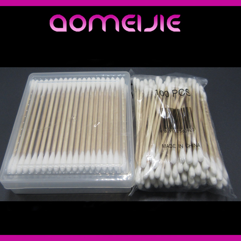 medical sterile wood stick cotton tipped applicator cotton bud