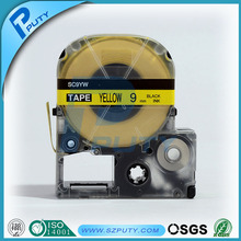 Compatible PUTY 9mm Black on Yellow SC9YW Printer Ribbon tepra label tape for labelworker printers