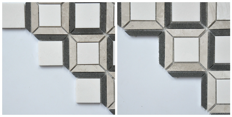 Decorstone24 Bianco White And Black Mosaic Tiles For Wholesale