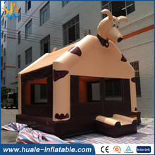 kids fun dog inflatable bouncer, cartoon air bouncy house inflatable castle for children