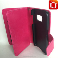Wholesale Leather Shockproof Wallet Mobile Phone Case for Samsung S7