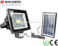 NEW ARRIVAL factory wholesales in ningbo zhejiang 30watt COB sensor Die-Cast Aluminum flood light with the solar panel