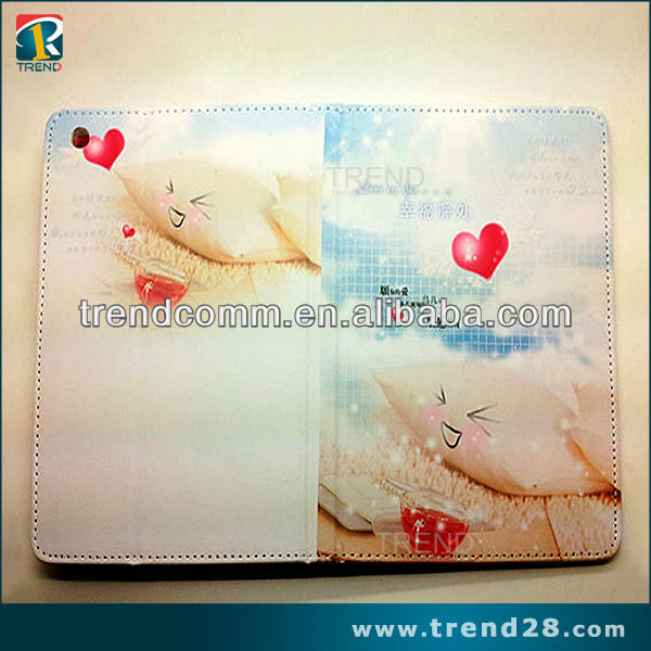 Cartoon photo picture frame foldable leather case for ipad 2