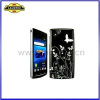 Black And Silver Butterfly Pattern IMD Hard Hybrid Case For Sony Ericsson Xperia Arc X12