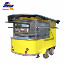 Three-wheel food warmer car/fast breakfast food carts mobile kitchen trailer/coffee hamburgers cart for sale