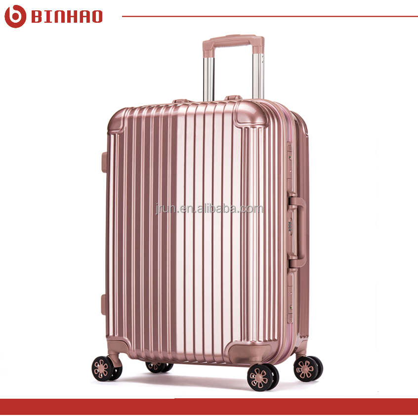 hot sale aluminum frame ABS hard shell travel trolley luggage